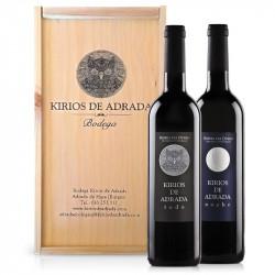 Estuche de madera con Pack vinos Kirios de Adrada