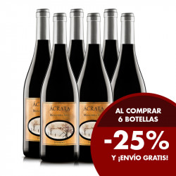 Pack 6 botellas Ácrata Monastrell Tinto 2018