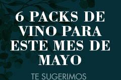 6 Packs de vino Mayo