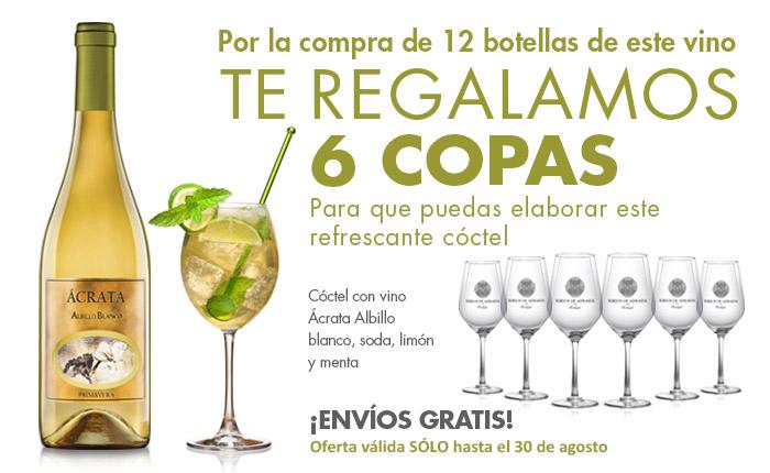 Regalo 6 copas de vino